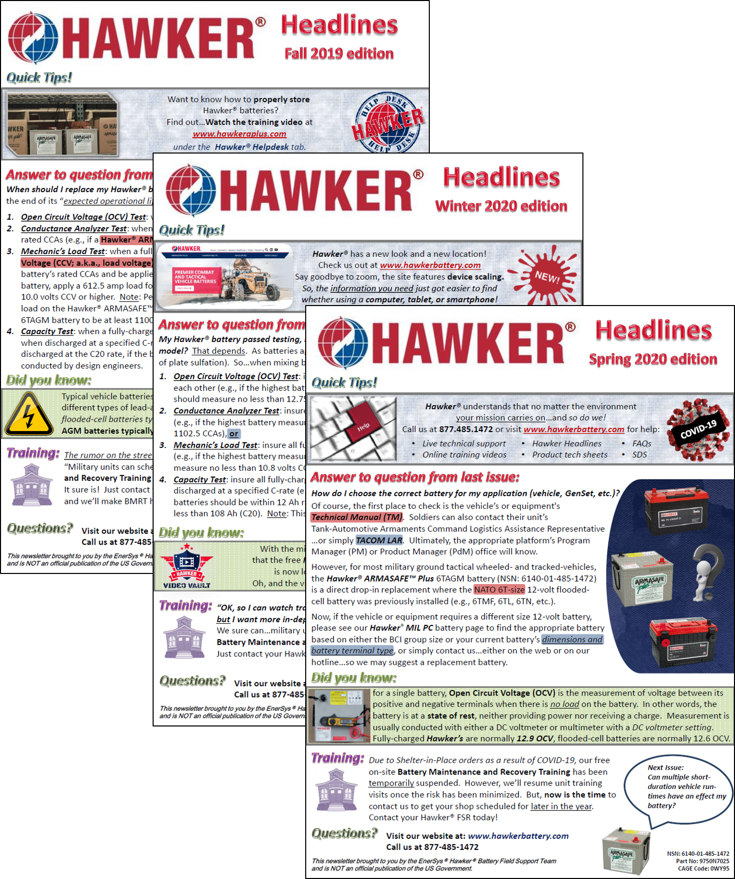 Hawker Headlines